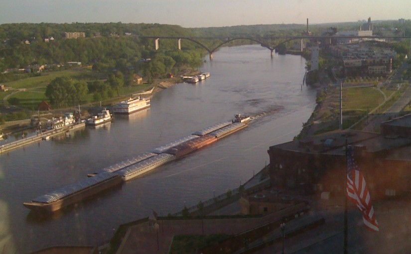 Upper Mississippi River at St Paul MN